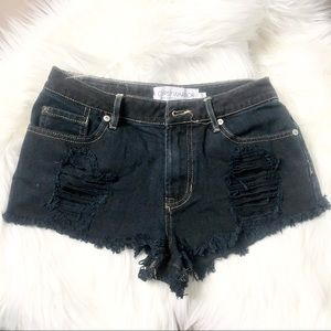 Gypsy Warrior Cut-Off Jean Shorts Distressed